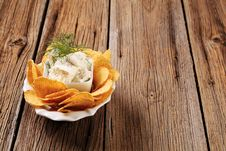 Free Corn Chips And Fresh Cheese Royalty Free Stock Images - 19304099