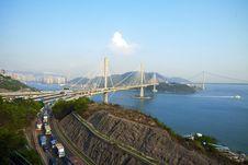 Free Ting Kau Bridge In Hong Kong Stock Photo - 19304310