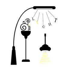 Free Silhouette Of Lamps Stock Photos - 19304793