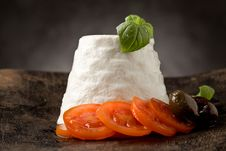 Ricotta Cheese With Tomatoes Royalty Free Stock Images