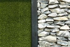Free Rock And Grass Royalty Free Stock Photography - 19306767