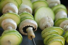 Mushrooms And Marrows Stock Images