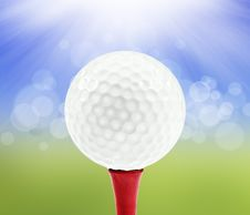 Free Spring Background With A Golf Ball Stock Photo - 19308110
