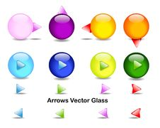 Free Directional Arrows Glass Stock Photos - 19308943