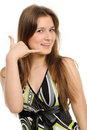 Free Woman Making A Call Me Gesture Royalty Free Stock Photos - 19315598
