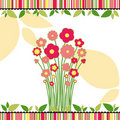 Free Springtime Love Greeting Card With Flowers Stock Image - 19317681