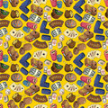 Free Seamless Cartoon Casion Pattern Royalty Free Stock Images - 19319579