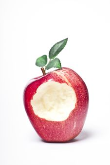 Free Bitten Red Apple Royalty Free Stock Photos - 19311568