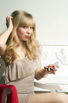 Free Coquette Pretty Blond Girl Stock Images - 19313154