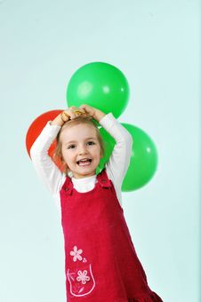 Free Girl With Balloons Royalty Free Stock Photos - 19313878