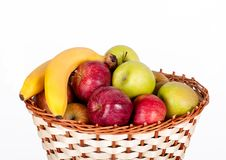 Free Basket With Apples And Bananas Stock Photo - 19314080