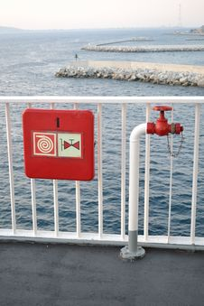 Fire Hydrant In The Ship Stock Images