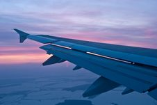 Free Airplane Wing, Sunset Stock Images - 19314914