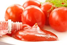 Fresh Tomato Ketchup Royalty Free Stock Image