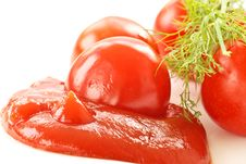 Free Fresh Tomato Ketchup Stock Photos - 19315613