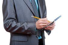 Free Businessman Writing Stock Photography - 19315782