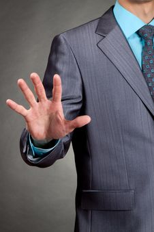 Free Businessman Point Hand Palm Royalty Free Stock Photo - 19315885