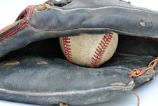 Free Old Baseball Glove Royalty Free Stock Image - 19315936