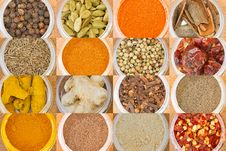 Free Various Spices All Over The World Royalty Free Stock Photography - 19316097