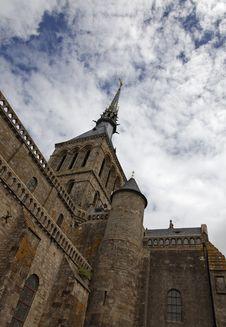 Free Mount Saint Michel Monastery-detail Royalty Free Stock Photo - 19317105