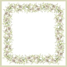 Free Beautiful Decorative Framework With Flowers. Greet Royalty Free Stock Images - 19317639