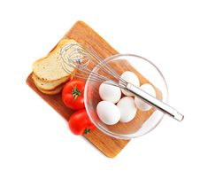 Free Eggs With Tomatoes Stock Image - 19318391