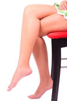 Beautiful Woman Legs Isolated Stock Photos