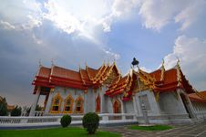 Free Marble Temple In Thailand Royalty Free Stock Photography - 19318577