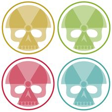 Free Four Nuclear Skulls Royalty Free Stock Photos - 19319628