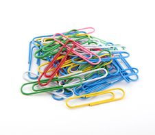 Colorful Paper Clips. Stock Photos