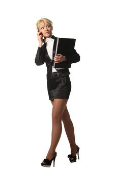 Free Businesswoman Speak Phone Royalty Free Stock Images - 19319949