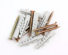 Free Dowels And Screws Royalty Free Stock Photography - 19320217