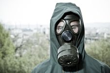 Free Man In Gas Mask Stock Photography - 19320942