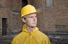 Free Portrait Of Confident Construction Worker Stock Images - 19320954