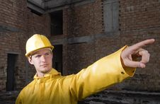 Free Portrait Of Confident Construction Worker Royalty Free Stock Photos - 19320958