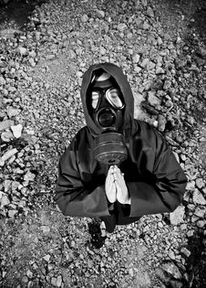 Free Man In Gas Mask Royalty Free Stock Photography - 19321007