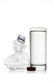 Free Bottle And Glass Royalty Free Stock Image - 19321496