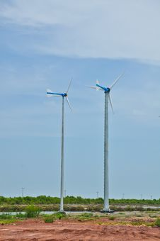 Small Wind Turbines Royalty Free Stock Photo