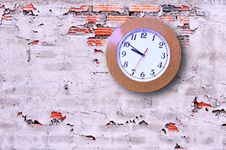 Free Clock On The Wall. Stock Images - 19322214