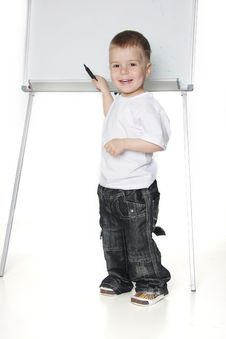 Free Boy Next To White Board Royalty Free Stock Images - 19322929