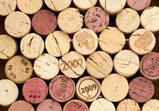 Stack Of Corks Royalty Free Stock Photos