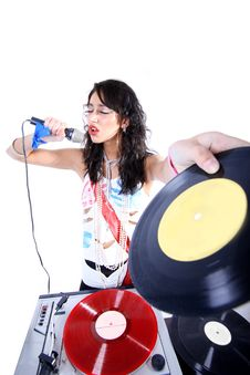 Free Cool DJ Royalty Free Stock Photography - 19323317