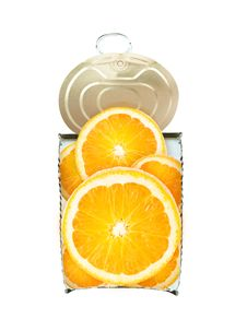Free Fresh Orange In Cross-section Over White Stock Image - 19323321