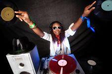Free Cool Afro American DJ Royalty Free Stock Image - 19323406