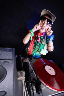 Free Cool Kid DJ Royalty Free Stock Photos - 19323448