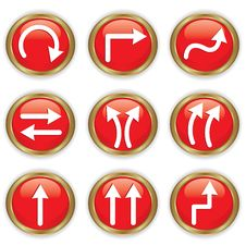 Set Of Buttons With Arrows Royalty Free Stock Photography