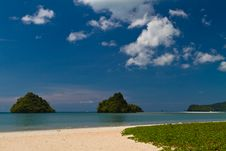 Free Beach View To Small Island In Asia Stock Images - 19324004