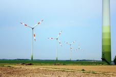 Free Windmills In The Field Stock Photo - 19324710