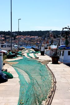 Free Harbor With Fishing Net Royalty Free Stock Image - 19324896