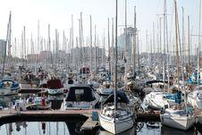 Free A Beautiful Marina In Barcelona Royalty Free Stock Image - 19326146